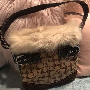 COACH lil fur purse
